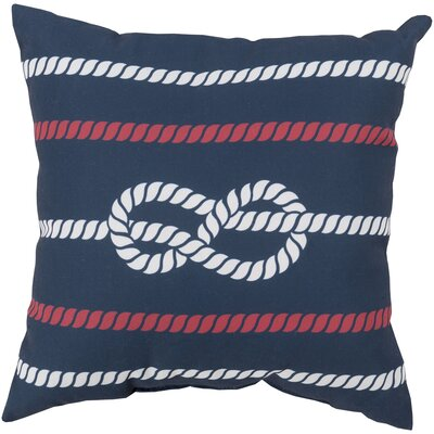 Brookhaven Knotted with Grace Throw Pillow Size: 20, Color: Navy