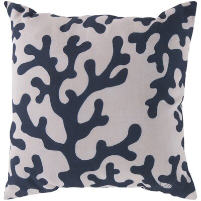 Graphic Polyester Throw Pillow Size: 18 H x 18 W, Color: Pink
