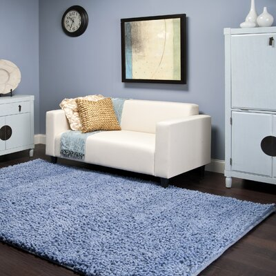 Bonney Sky Blue Area Rug Rug Size: Rectangle 9 x 13