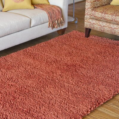 Bonney Hand Woven Wool Rust Red Area Rug Rug Size: Square 8