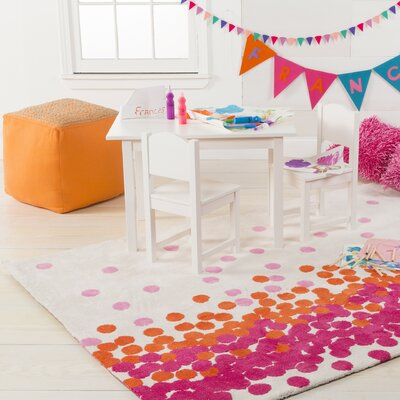 Clive Hot Pink/Carnation Area Rug Rug Size: 33 x 53