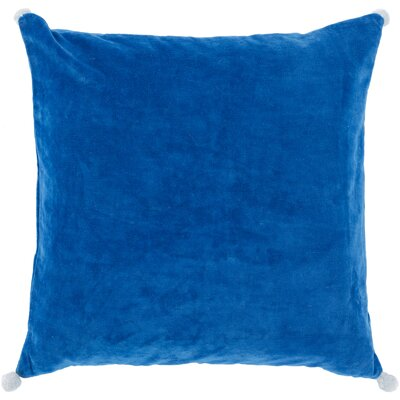 Armina Throw Pillow Color: Cobalt, Filler: Down