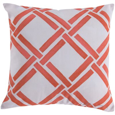 Leticia Overlap Throw Pillow Size: 20, Color: Orange