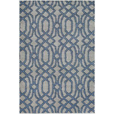 Sterling Bright Blue/Medium Gray/Black Area Rug Rug Size: Rectangle 2 x 33