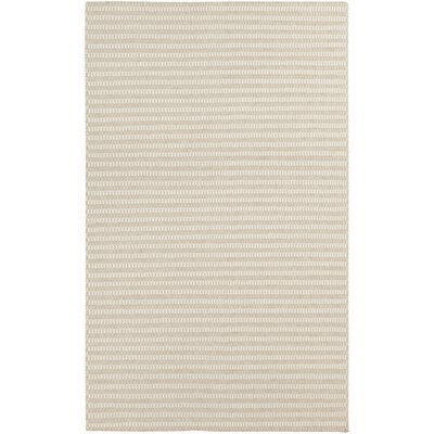 Walton Winter White/Desert Sand Striped Rug Rug Size: 5 x 8