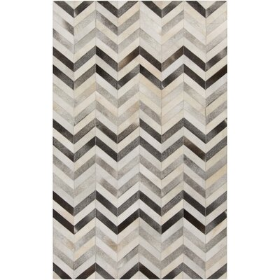 Ortega Light Gray/Charcoal Area Rug Rug Size: 5 x 8