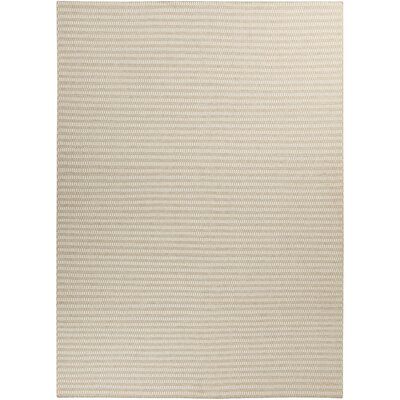 Walton Winter White/Desert Sand Striped Rug Rug Size: Rectangle 8 x 11