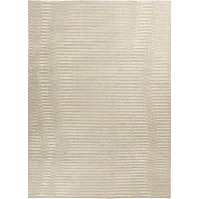 Walton Winter White/Desert Sand Striped Rug Rug Size: 8' x 11'