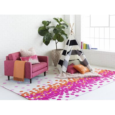 Clive Hot Pink/Carnation Area Rug Rug Size: Rectangle 5 x 8