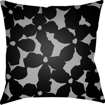 Gibson Throw Pillow Color: Black/Grey, Size: 20 H x 20 W x 4 D
