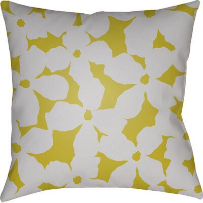Gibson Throw Pillow Size: 20 H x 20 W x 4 D, Color: Grey/Yellow