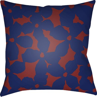 Gibson Throw Pillow Color: Blue/Red, Size: 22 H �x 22 W x 5 D