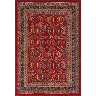 Sedra Red Area Rug Rug Size: 5 3 x 7 6
