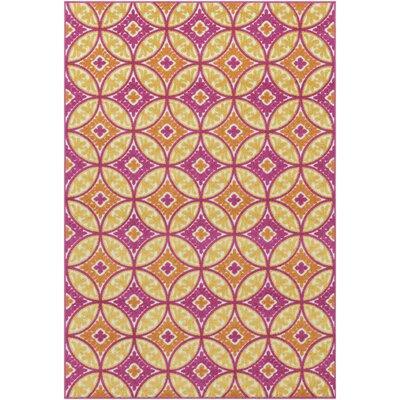 Jolene Pink/Yellow Indoor/Outdoor Area Rug Rug Size: 5 3 x 7 3