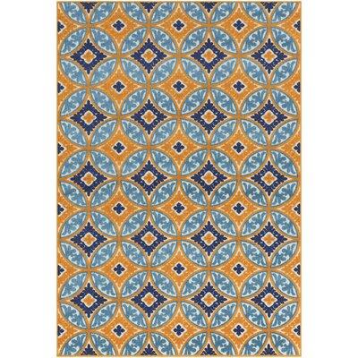 Jolene Orange/Blue Indoor/Outdoor Area Rug Rug Size: 2 x 3