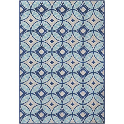 Jolene Blue/Gray Indoor/Outdoor Area Rug Rug Size: 7 10 x 10 3