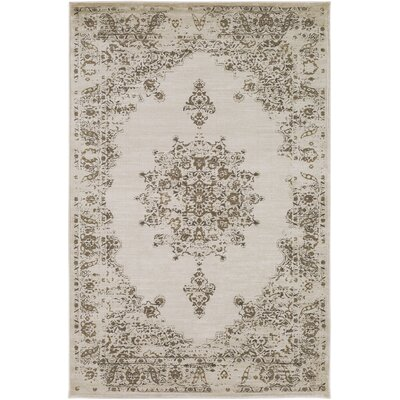 Kaitlyn Vintage Ivory/Neutral Area Rug Rug Size: 5 3 x 7 6