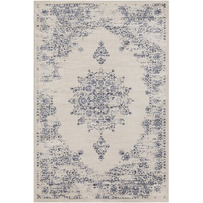 Kaitlyn Vintage Ivory/Blue Area Rug Rug Size: 7 10 x 10 6