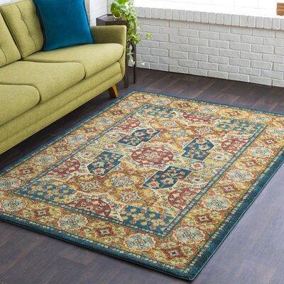 Masala Market Blue Area Rug Rug Size: 5 3 x 7 3