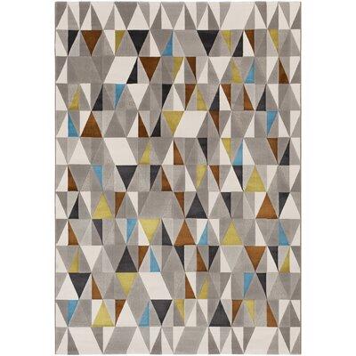Peachtree Blue/Cream/Gray Area Rug Rug Size: 2 x 3