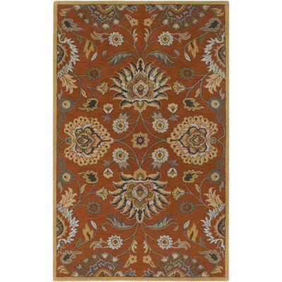 Topaz Hand-Tufted Burnt Orange Area Rug