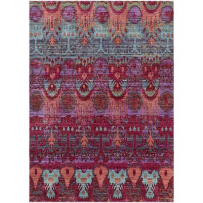 Fields Pink / Green Area Rug Rug Size: Runner 211 x 71
