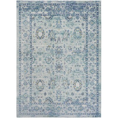 Fields Green / Blue Area Rug Rug Size: Runner 211 x 71