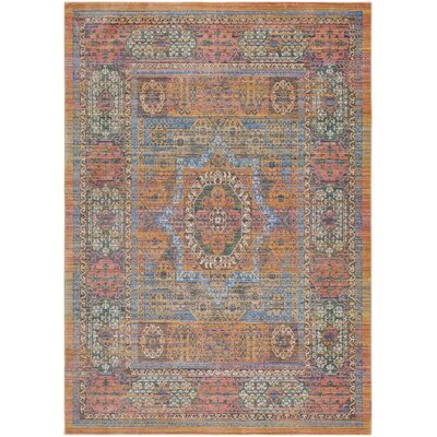 Fields Yellow / Blue Area Rug Rug Size: Runner 211 x 71