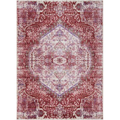 Fields Pink / Purple Area Rug Rug Size: Runner 211 x 71