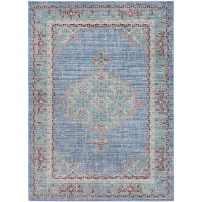 Fields Blue / Green Area Rug Rug Size: Runner 211 x 71