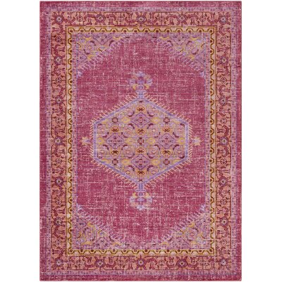 Fields Pink / Orange Area Rug Rug Size: Runner 211 x 71