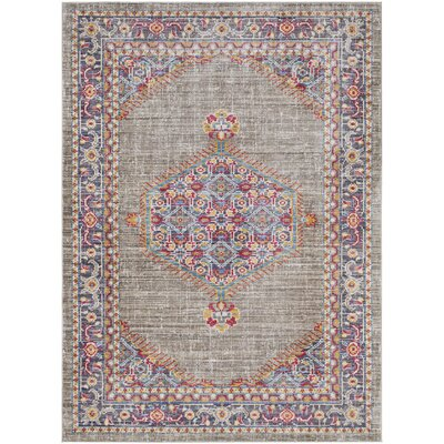 Fields Contemporary Purple / Blue Area Rug Rug Size: Rectangle 53 x 76