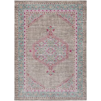 Fields Blue / Pink Area Rug Rug Size: Runner 211 x 71