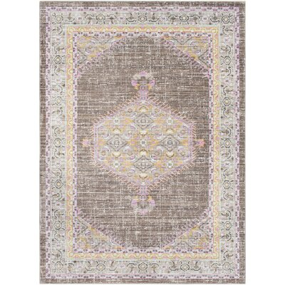 Fields Pink / Brown Area Rug Rug Size: Runner 211 x 71