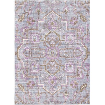 Fields Purple / Brown Area Rug Rug Size: Runner 211 x 71