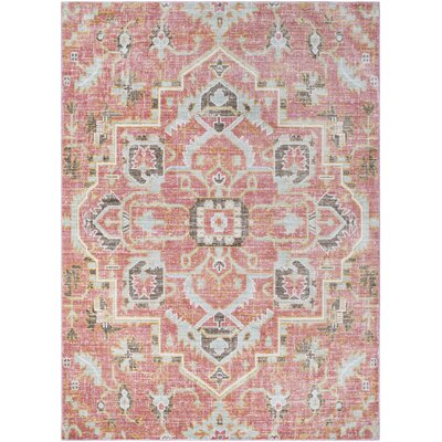 Bungalow Rose Kamil Pink/Blue Area Rug