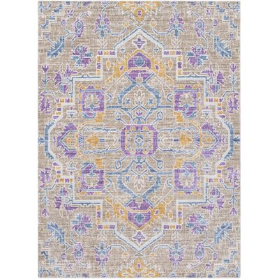 Fields Blue / Purple Area Rug Rug Size: Runner 211 x 71