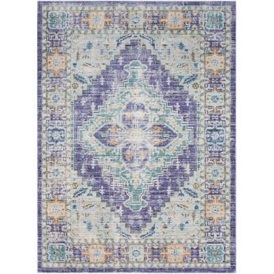 Fields Purple/Green Area Rug