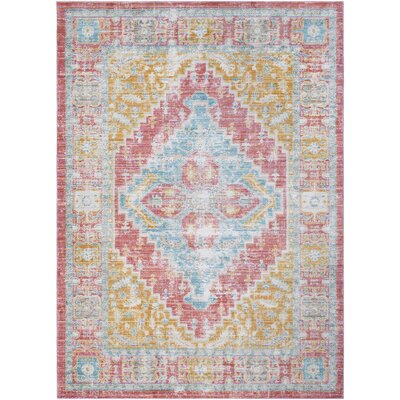 Fields Pink/Green Area Rug