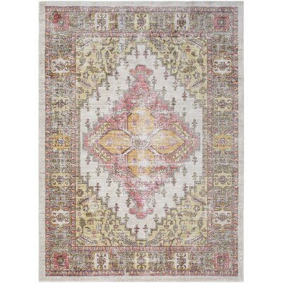 Fields Brown/Coral Area Rug Rug Size: Runner 211 x 71