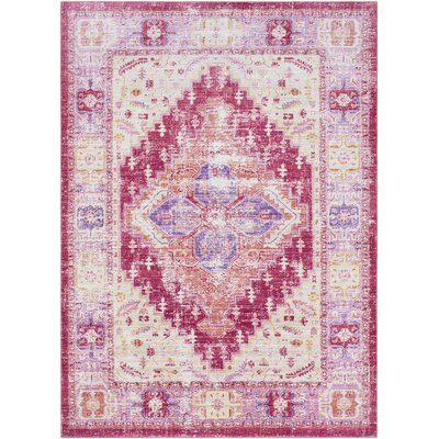 Fields Pink / Yellow Area Rug Rug Size: Runner 211 x 71