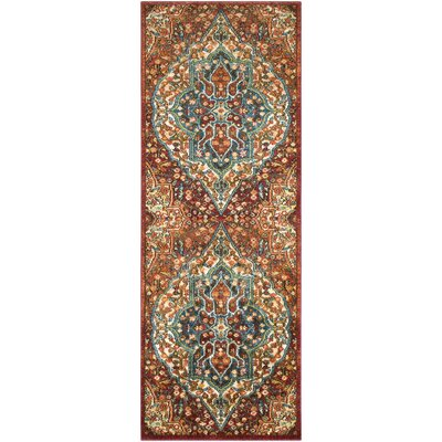 Masala Market Red Area Rug Rug Size: 53 x 73