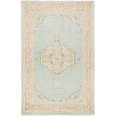 Firestone Hand-Knotted Beige/Blue Area Rug