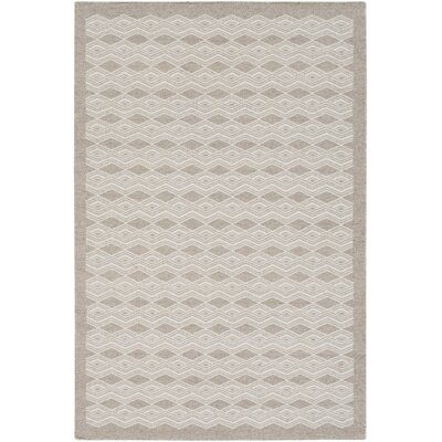 Jeannie Hand-Woven Gray/Cream Area Rug Rug Size: 5 x 76