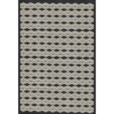 Jeannie Hand-Woven Black/Cream Area Rug Rug Size: Rectangle 5 x 76