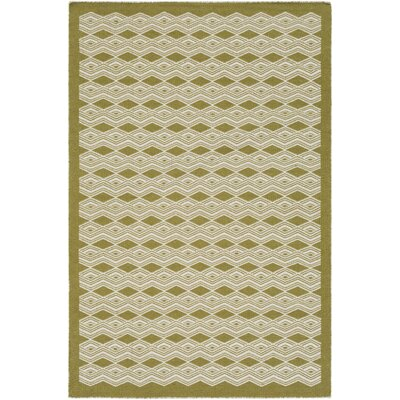 Jeannie Hand-Woven Lime/Cream Area Rug Rug Size: 8 x 10