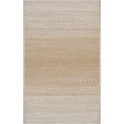 Danyel Hand-Woven Wheat/Cream Area Rug Rug Size: Rectangle 5 x 76