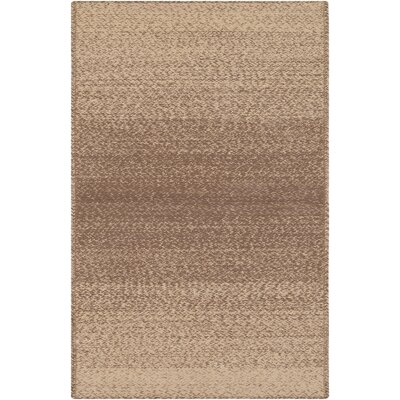 Danyel Hand-Woven Brown/Yellow Area Rug Rug Size: 8 x 10