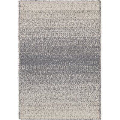 Danyel Hand-Woven Gray/Cream Area Rug Rug Size: Rectangle 8 x 10