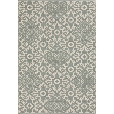 Pearce Sage/Cream Indoor/Outdoor Area Rug Rug Size: Runner 23 x 119